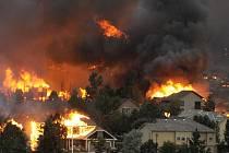 Rozsáhlý požár v americkém Coloradu.