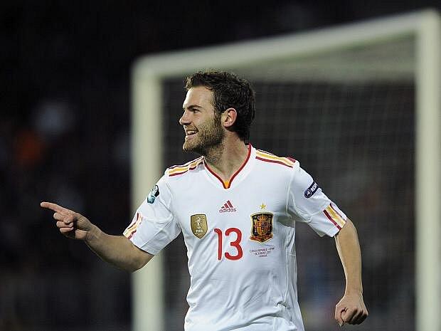 Střelec prvního španělského gólu na Letné Juan Manuel Mata.