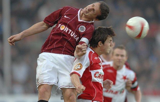 Fotbal Sparta Praha-Slavia Praha Pospěch a Milan Ivana