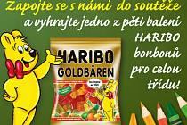 Zapojte se s námi  do soutěže a vyhrajte jedno z pěti  balení Haribo bonbonů pro celou třídu!