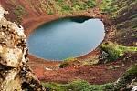 Kráter s jezerem Kerjd
