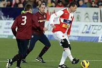Pavel Kuka vstřelil v Silvestrovském derby Spartě čtyři góly.