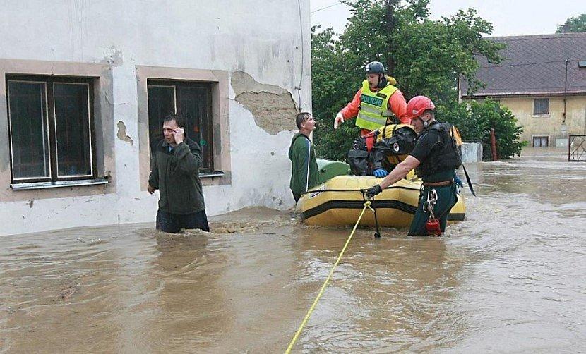 Povodeň na Liberecku v roce 2010.