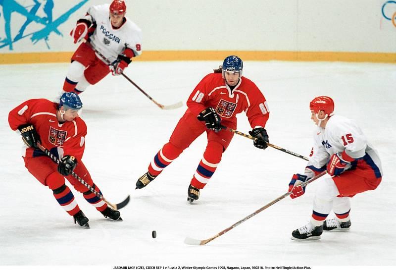 Jaromír Jágr v zápase proti Rusku.