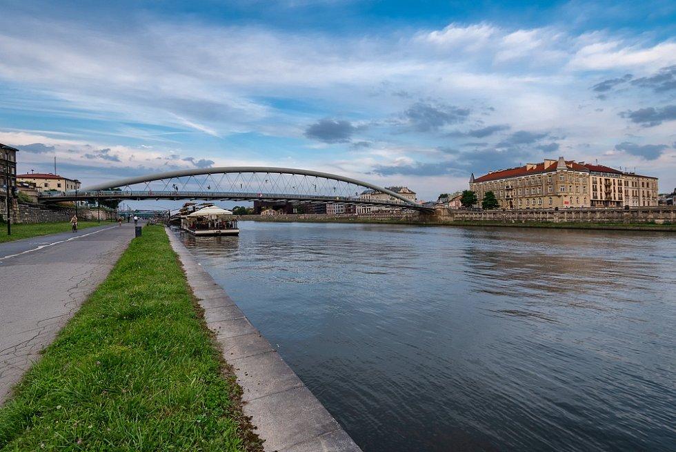 Městské scenérie města Krakova.