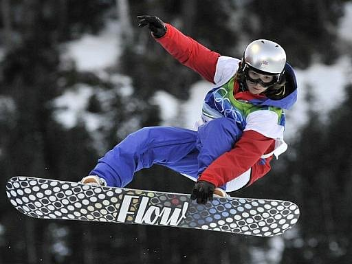 Snowboardistka Šárka Pančochová ve Vancouveru.