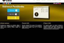 Internetové stránky první české virtuální měny.