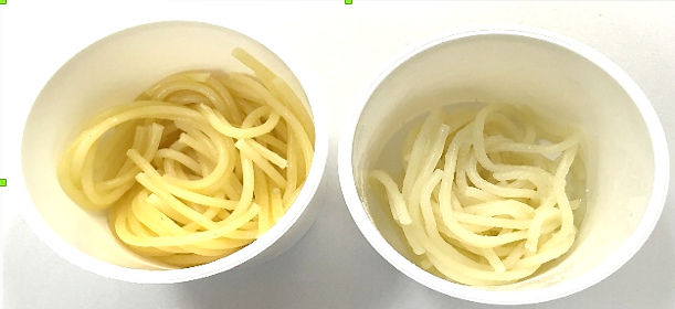 Rozdíl v kvalitě špaget je nejvíce patrný po uvaření