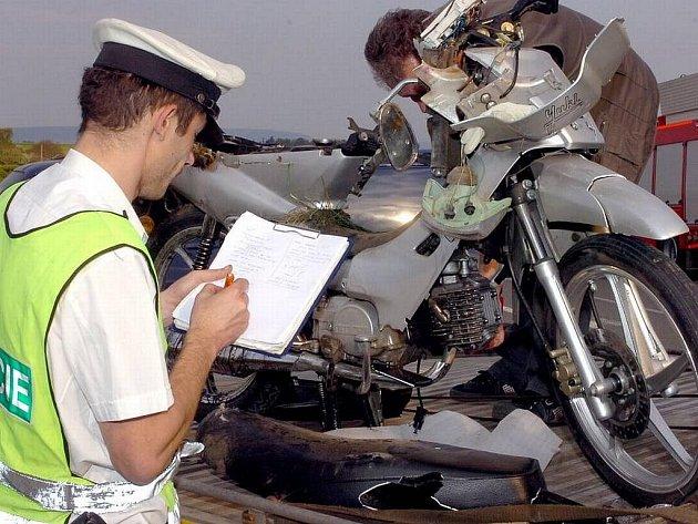 Smrtelná nehoda na motocyklu - ilustrační foto