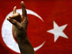 Demonstranti v Istanbulu dali jasně najevo podporu vládě v akcích proti Kurdům na jihovýchodě země.