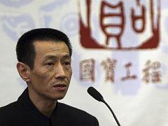 Cchaj Ming-čchao na tiskové konferenci v Pekingu.