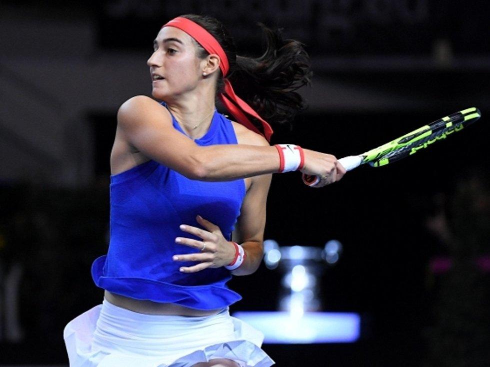 Caroline Garciaová z Francie proti Karolíně Plíškové.
