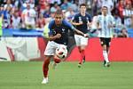 Kylian Mbappé září v dresu Francie na mistrovství světa ve fotbale.