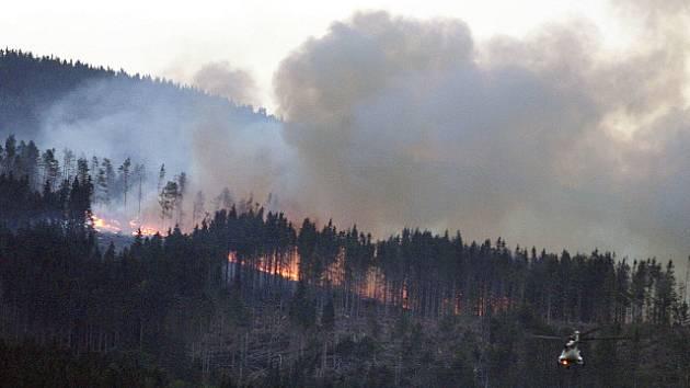 Požár v Tatrách, ilustrační foto