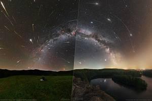 Americká vesmírná agentura NASA zveřejnila 9. srpna 2021 jako svou astronomickou fotografii dne snímek s názvem Perseus and Lost Meteors (Perseus a ztracené meteory)