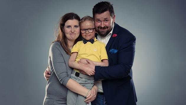 Manželé Kadlecovi se synem Martinem