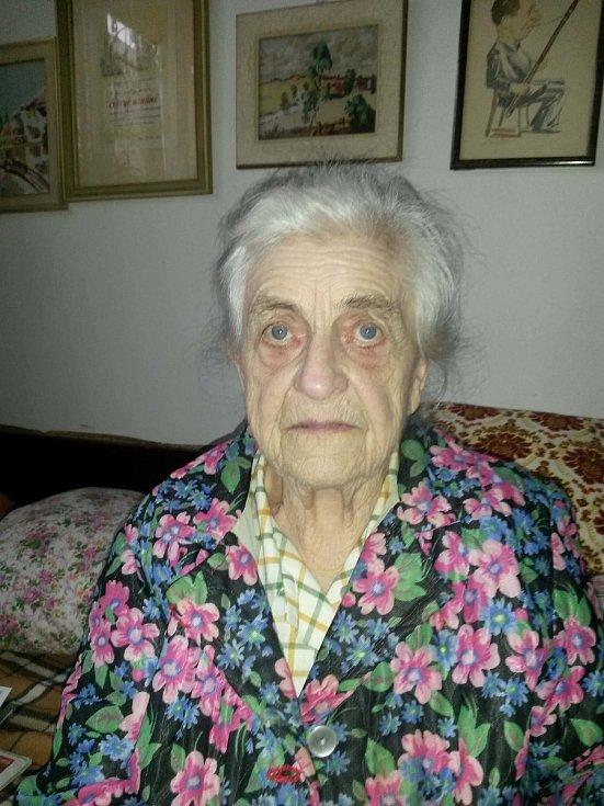Alena Grušková, jejíž otec byl jedním z organizátorů záchrany židovských dětí.