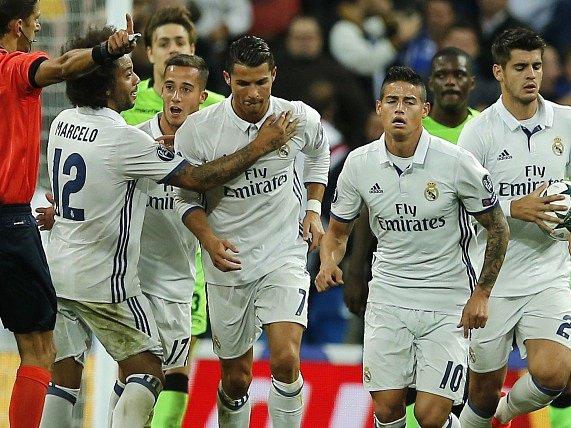 Radost Realu po Ronaldově vyrovnání