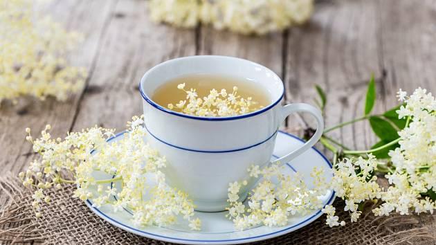 Bezový čaj pomáhá proti nachlazení.