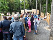 Stezka korunami stromů Krkonoše: fronta u pokladen