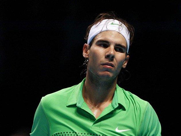 Zklamaný Rafael Nadal na Turnaji mistrů.