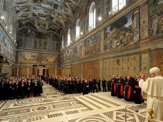 Vatikán poprvé povolil pronájem slavné Sixtinské kaple pro soukromou akci.