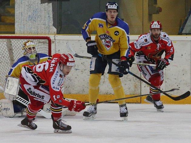 Hokejisté Prostějova vyhráli na ledě Ústí nad Labem