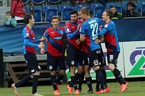 Slovácko - Plzeň: Radost hostujícího týmu z gólu