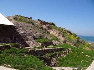 Město Ashkelon a psí hřbitov