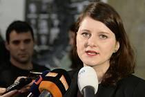 Ministryně práce a sociálních věcí Jana Maláčová z ČSSD se 24. února 2020 na ministerstvu v Praze vyjádřila k zátahu policie v jejím úřadě
