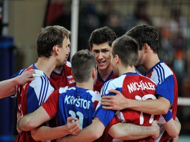 Čeští volejbalisté se přiblížili ME, v kvalifikaci smetli Španělsko.