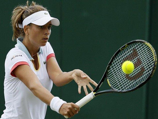Petra Cetkovská na Wimbledonu.