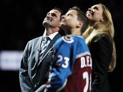 Milana Hejduka doprovodili na slavnostní ceremoniál jeho synové – Marek, David a jeho manželka Zlatuše.