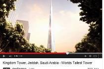 Mrakodrap Kingdom Tower (Královská věž) by měl mít 200 pater a dosahovat výšky jednoho kilometru.