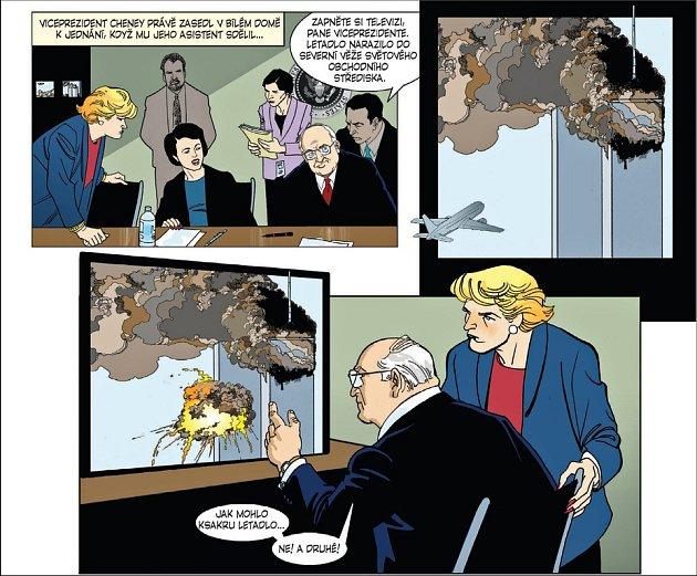 """Podobně vyšel i komiks o atentátech na newyorská """"dvojčata"""""""