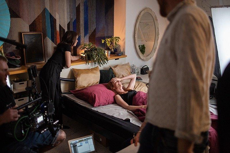 Z natáčení klipu