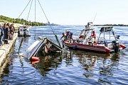 Srážka dvou plavidel v ruském Volgogradu