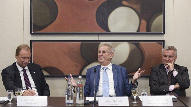Miloš Zeman na setkání s německými podnikateli.