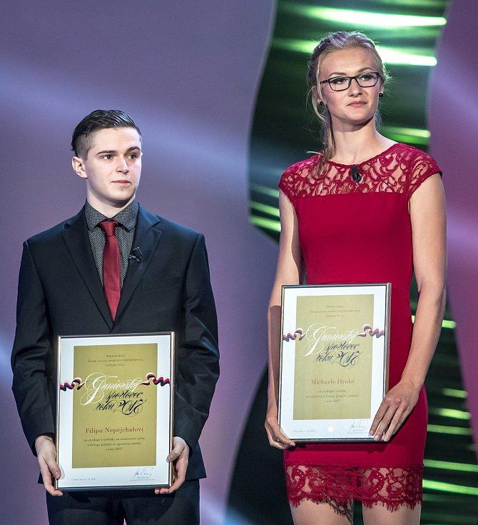 Vyhlašování ankety Sportovec roku probíhalo 21. prosince v Praze. Filip Nepejchal, Michaela Hrubá