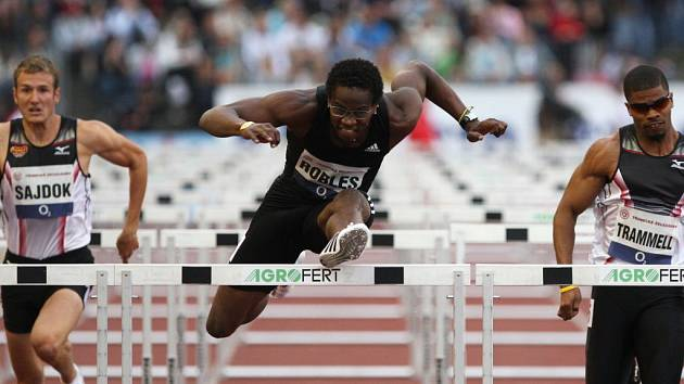 Kubánec Robles má světový rekord! Na snímku při závodě Zlatá tretra v Ostravě