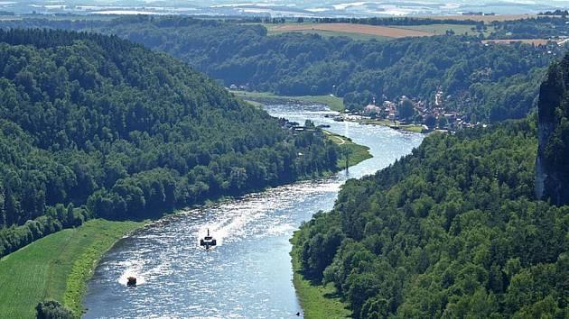 Pohled na oblast Saského Švýcarska