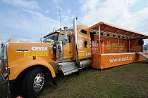 Truck, který vozí po regionech volební kampaň ČSSD