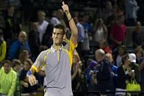 Novak Djokovič na turnaji v Miami.