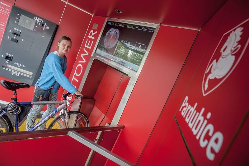 Biketower - cyklověž u pardubického hlavního nádraží. Uložení kola zde stojí jednorázově 10 korun za 24 hodin. Kolo zde může zůstat uloženo až 30 dní.