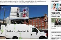 První nafukovací hotelový pokoj na světě. Nabízí ho hotel Curtis v americkém Denveru.
