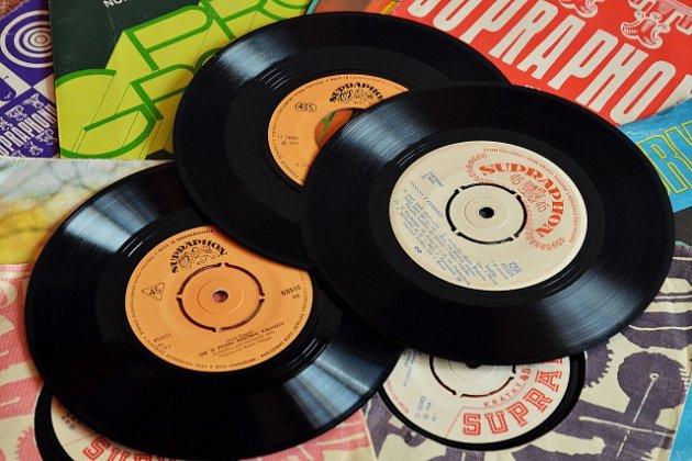 Supraphon, gramofonové desky, ilustrační foto