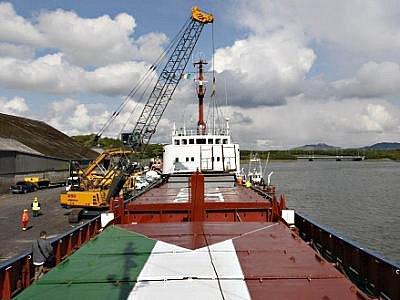 Loď Rachel Corrie s humanitární pomocí pro palestinské pásmo Gazu.