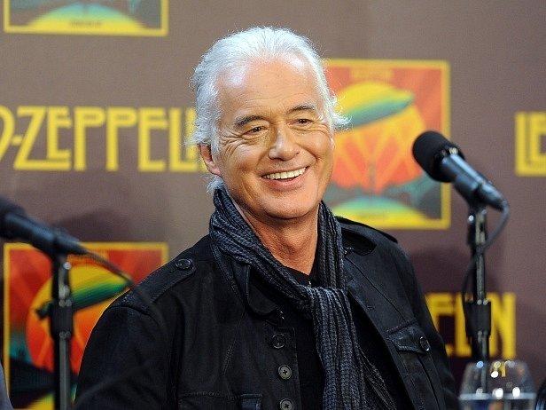 Jimmy Page. Člen legendární skupiny Led Zeppelin.