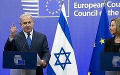 Benjamin Netanjahu a Federica Mogheriniová