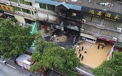 Požár karaoke baru v čínském Čching-jüanu